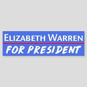 Elizabeth Warren for President in 2020 Bumper Stic