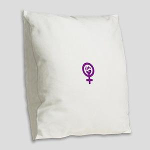 femifist300 Burlap Throw Pillow