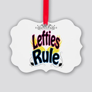 Lefties Rule Picture Ornament