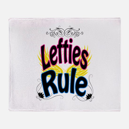 Lefties Rule Throw Blanket