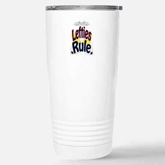 Lefties Rule Stainless Steel Travel Mug