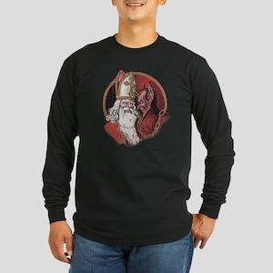 Krampus and Santa Christmas Long Sleeve T-Shirt