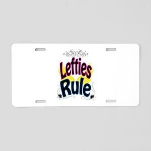 Lefties Rule Aluminum License Plate