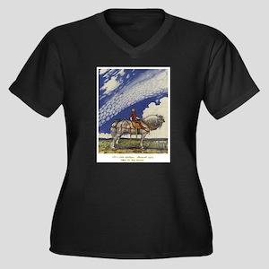 """John Bauer, """"Ut i Vida V&#2 Plus Size T-Shirt"""