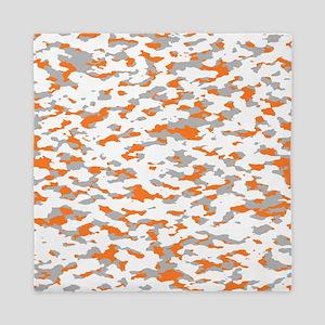 Camouflage: Orange III Queen Duvet