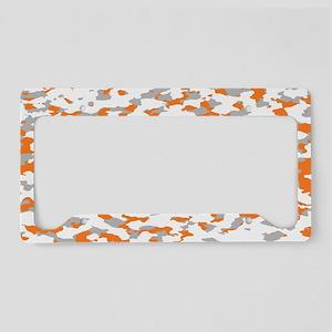 Camouflage: Orange III License Plate Holder