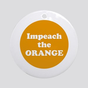Impeach the orange Round Ornament