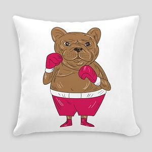French Bulldog Boxer Boxing Stance Cartoon Everyda