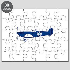 World War 2 Fighter Plane Spitfire Retro Puzzle