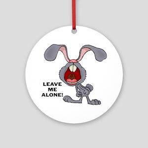 Leave Me Alone Bunny Keepsake (Round)