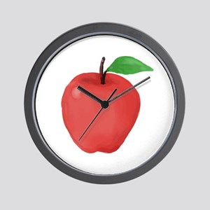 Apple Watercolor Wall Clock