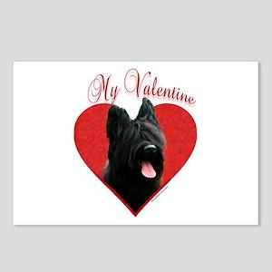 Briard Valentine Postcards (Package of 8)