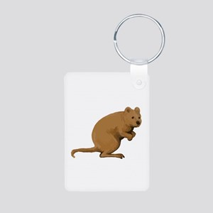 Quokka Side Watercolor Keychains