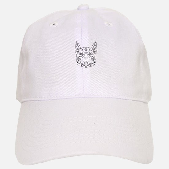 French Bulldog Head Mandala Baseball Baseball Baseball Cap