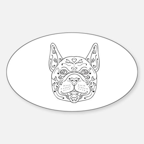 French Bulldog Head Mandala Decal
