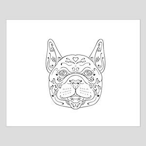 French Bulldog Head Mandala Posters