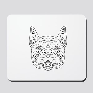 French Bulldog Head Mandala Mousepad