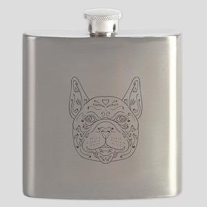 French Bulldog Head Mandala Flask