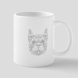French Bulldog Head Mandala Mugs