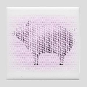 Dotty Pig Tile Coaster