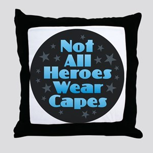 Hereos Capes Throw Pillow