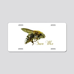 Save Me Bee Aluminum License Plate
