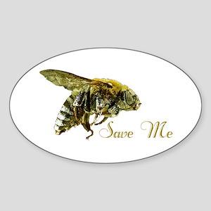 Save Me Bee Sticker (Oval)