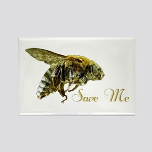 Save Me Bee Rectangle Magnet