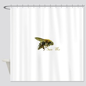 Save Me Bee Shower Curtain