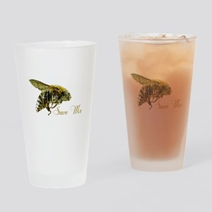 Save Me Bee Drinking Glass