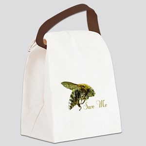 Save Me Bee Canvas Lunch Bag
