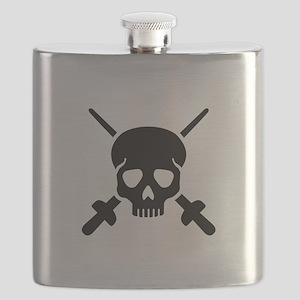 Fencing skull Flask