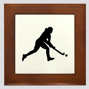 Field hockey girl Framed Tile