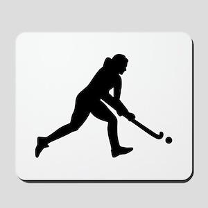 Field hockey girl Mousepad