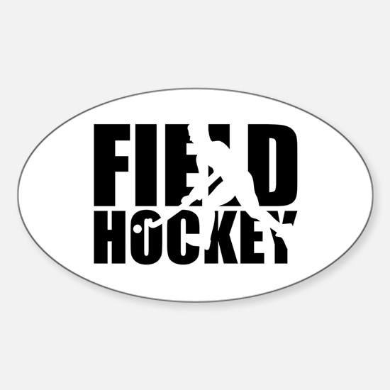 Field hockey Sticker (Oval)