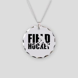 Field hockey Necklace Circle Charm