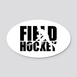 Field hockey Oval Car Magnet