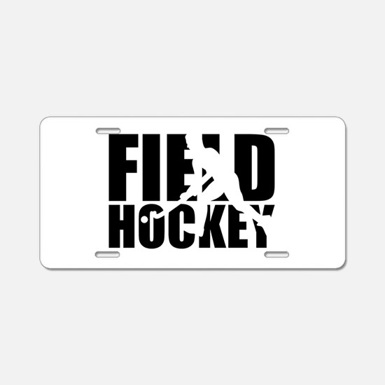 Field hockey Aluminum License Plate