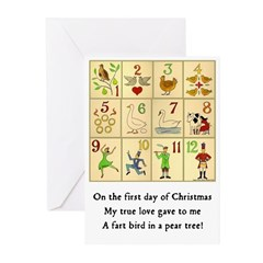 First Day Of Christmas Card Greeting Cards