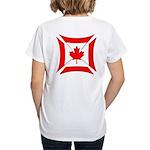 Canadian Biker Cross Women's V-Neck T-Shirt