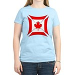 Canadian Biker Cross Women's Light T-Shirt