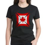 Canadian Biker Cross Women's Dark T-Shirt