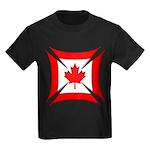 Canadian Biker Cross Kids Dark T-Shirt