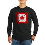 Canadian Biker Cross Long Sleeve Dark T-Shirt