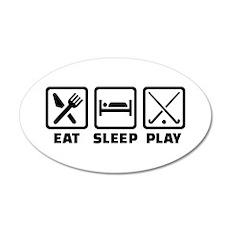 Eat sleep play field hockey Wall Decal