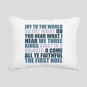 Christmas Songs Rectangular Canvas Pillow