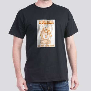 Retro Buddha Is My Om Boy Ash Grey T-Shirt