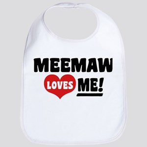 Meemaw Loves Me Bib