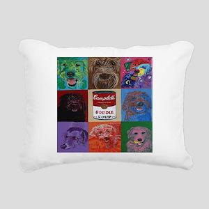 Doodle Soup Rectangular Canvas Pillow