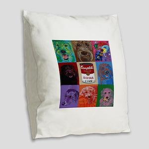 Doodle Soup Burlap Throw Pillow